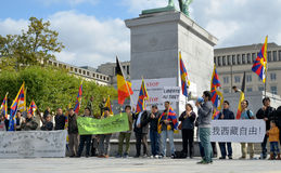 Tibetan Community demonstrate for freedom Royalty Free Stock Photos
