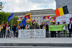 Tibetan Community protests Royalty Free Stock Photos