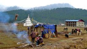 Tibetan. The Tibetan compatriots, they lived a nomadic life Stock Photo