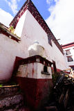 Tibetan Construction. Tibetan Architecture in the plateau of the sun Stock Photo