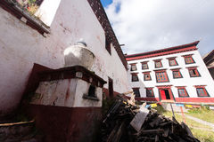 Tibetan Construction. Tibetan Architecture in the plateau of the sun Stock Photography