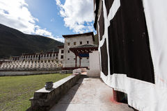 Tibetan Construction. Tibetan Architecture in the plateau of the sun Royalty Free Stock Images