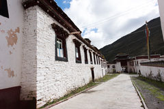 Tibetan Construction. Tibetan temple in an alley Royalty Free Stock Photography