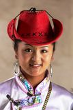 Tibetan cowgirl Stock Photo