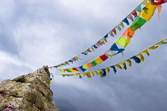 Tibetan culture and Jing Fan Royalty Free Stock Image