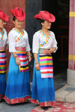 Tibetan dancers Stock Image