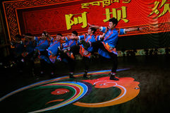 Tibetan dancing,2013 WCIF Royalty Free Stock Images