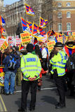 Tibetan Demonstration Stock Image