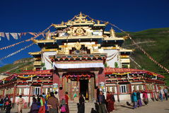 Tibetan Dharma assembly Royalty Free Stock Photos