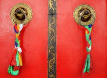 Tibetan door Royalty Free Stock Photography