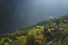 Tibetan Dorp royalty-vrije stock foto's