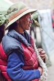 Tibetan drover. TSAKANG, NEPAL - SEPTEMBER 10: Tibetan Khampa man from the village of Tibetan refugees on September 10, 2011 in Tsakang, Upper Dolpo district Royalty Free Stock Photography