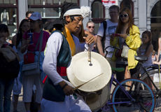 Tibetan Drummer Royalty Free Stock Photo
