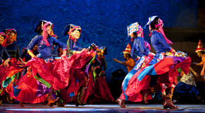 Tibetan ethnic dance Stock Photo