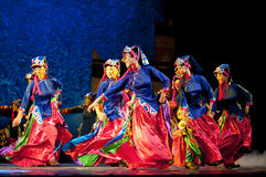 Tibetan ethnic dancer Stock Photography