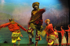 Tibetan ethnic dancers Royalty Free Stock Images