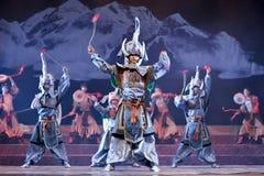 Tibetan ethnic dancers Royalty Free Stock Photo