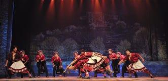 Tibetan ethnic dancers Stock Photo