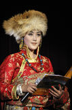 Tibetan ethnic singer Stock Photography