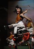 Tibetan etnisch dansdrama: Tian Mu stock fotografie