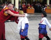 Tibetan Exiles in India Celebrate Dalai Lama's Birthday Stock Image