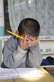 tibetan by för barn s arkivbilder