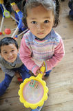 tibetan by för barn s Royaltyfri Bild