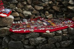 Tibetan fashion accessories, Everest region Nepal royalty free stock photography