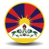 Tibetan flag banner with shadow Stock Photo