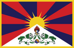 Tibetan flag in vector Royalty Free Stock Photography