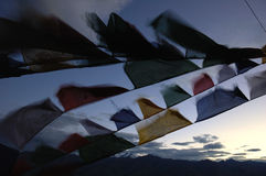 Tibetan flags Royalty Free Stock Photos