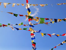 Tibetan flags Stock Image