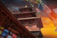 Tibetan flags. Patan Stock Photos