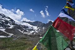 Tibetan flags Stock Images