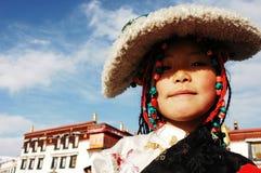 tibetan flicka royaltyfria foton