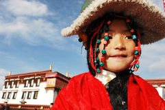 tibetan flicka arkivfoto