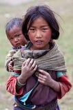 Tibetan flicka Royaltyfri Bild
