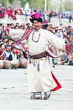 Tibetan folk dancer Stock Photos