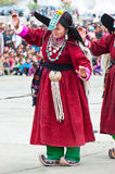 Tibetan folk dancer Stock Photography