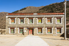 Tibetan folk house Royalty Free Stock Photos