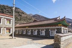 Tibetan folk house Stock Photo