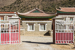 Tibetan folk house Royalty Free Stock Photo