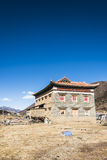 Tibetan folk house Royalty Free Stock Photography