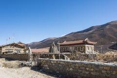 Tibetan folk house Royalty Free Stock Photo