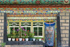Tibetan folk house Royalty Free Stock Images