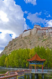 Tibetan fortress. Sits on the top of a mountain Stock Image