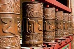 Tibetan gebedwiel Royalty-vrije Stock Foto