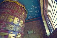 Tibetan gebedwiel royalty-vrije stock afbeeldingen