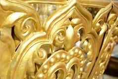 Tibetan Gilded Ornaments Stock Photo
