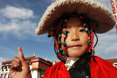 Tibetan girl Stock Images